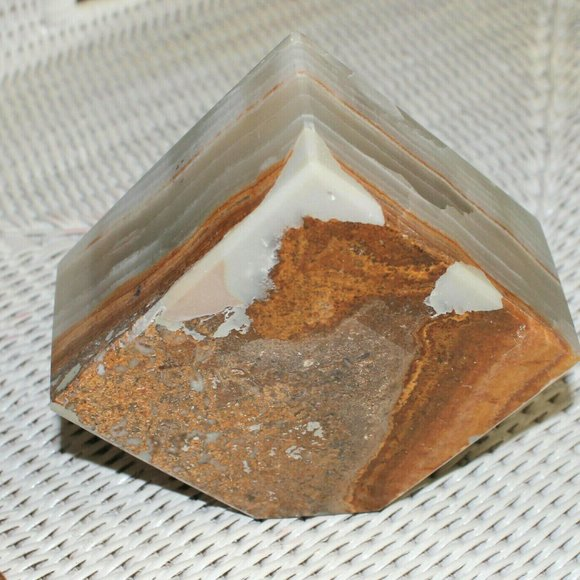 Quartz/Crystal  Geometic Paperweight/Bookend